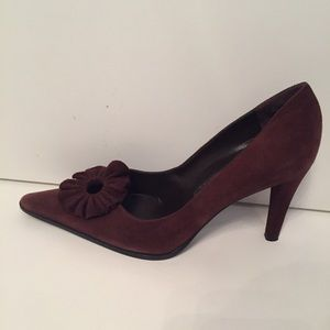 ⭐️SERGIO ROSSI SHOES HEELS BROWN SUEDE 36.5 6.5